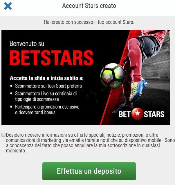 bonus betstars