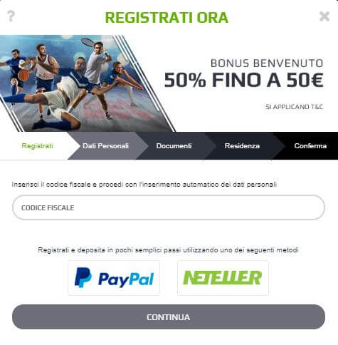 NetBet Bonus Benvenuto -> rimborso prima scommessa fino a 50€
